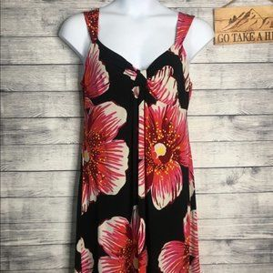 dBy Ltd. Black & Pink Tropical Print Dress Size 16